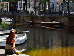 Amsterdam, Holland 086 - City - A cup of coffee in the early morning