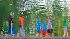 Walking in the abstract (rexp2) Tags: street people abstract reflection water pond notredame pedestrians handheld impressionist in appleaperture nikkor50mmf14 afnikkor50mmf14d nikond300