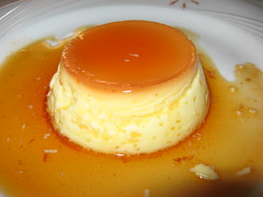 Spanish Tavern: Caramel flan (close up)