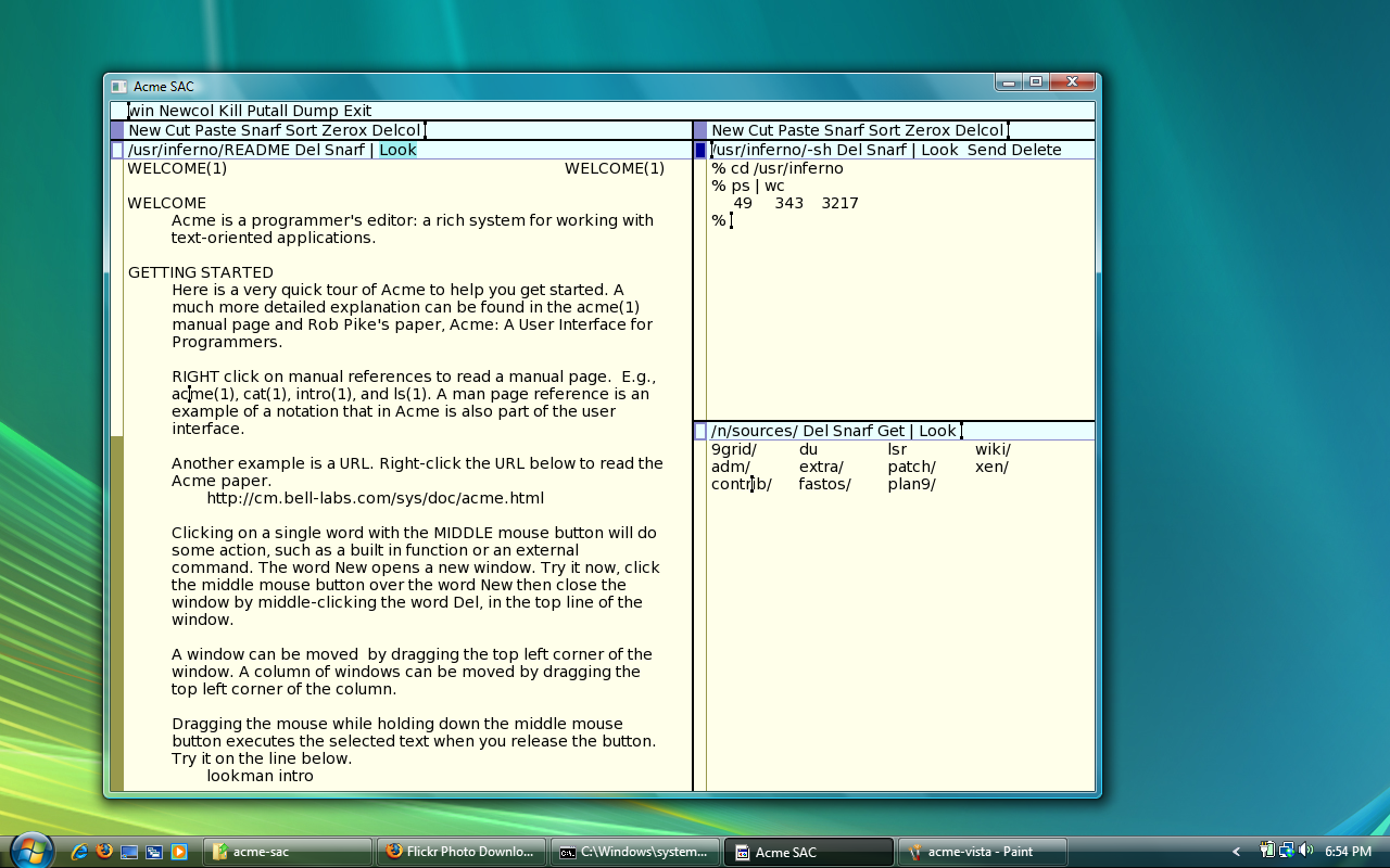 Acme SAC for Mac OS X full screenshot