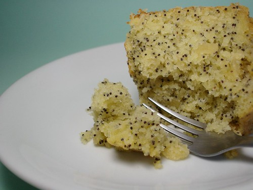 Passion fruit, almond and poppy seed cake