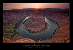 Horseshoe Bend Sunset - 1st Place in Popular Photography Magazine! (Stephen Oachs (ApertureAcademy.com)) Tags: sunset fab canyon coloradoriver horseshoebend pagearizona supershot anawesomeshot stephenoachs stephenoachscom