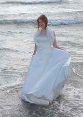 oops, the tide has come in (madseavets) Tags: wedding beach wet dress torn selsey wrecked trashed ruined ttd trashthedress