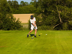 Perfect Drive (Per@Flickr) Tags: trees green sport ball golf landscape geotagged drive action sweden fields tee f4 linkping eastmankodakcompany iso50 top20sports landeryd golddragon theunforgettablepictures theperfectphotographe
