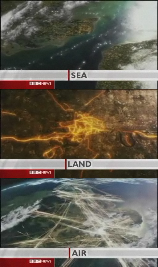 Britain seen from the skies above