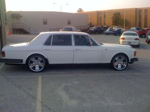 Rims on a Rolls Royce