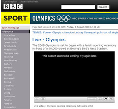 Olympics - Iplayer problem!