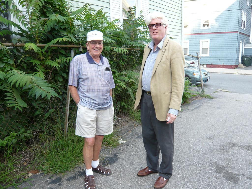 Everret Mathews, Peter Sullivan. Fox Point Senior Citizens Fund Raiser. Aug 13 2008. Photo Courtesy of Lou Costa.