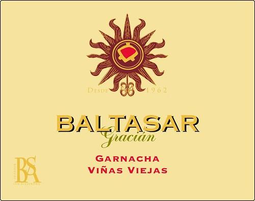 Etiqueta Frontal Vino Baltasar Gracián Garnacha Viñas Viejas 2005