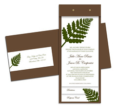 Tiered Frond Invitations