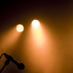 Microphone and Spotlights by /dam, on Flickr