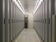 Data centre with cold aisle containment