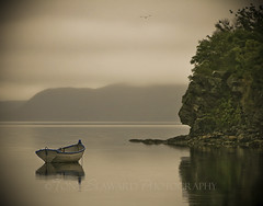 Motorboat (another view) (Tony Seaward) Tags: public water fog newfoundland boat calm motorboat blueribbonwinner clarenville aplusphoto