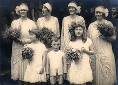 The bridesmaids and a page (lovedaylemon) Tags: 1920s wedding vintage found image page bridesmaid warren bosanquet