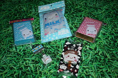 Milk goodies (Verokitschy) Tags: cute smile smiling tin milk key chain cap cover kawaii cointainer keycap keycover janetstore keyhain