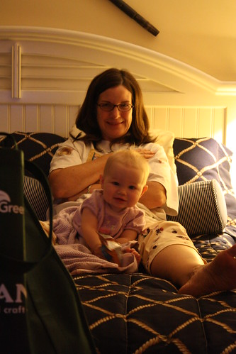Grammy and Jillian on the bed