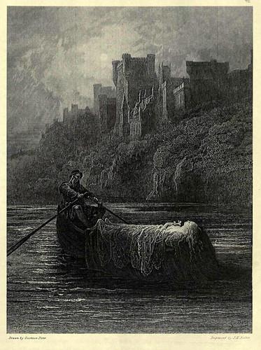 07- El cuerpo de Elaine camino del palacio del Rey Arturo