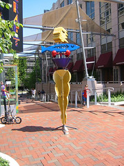 sculpture in Reston Town Center (by: Miki James, creative commons license)