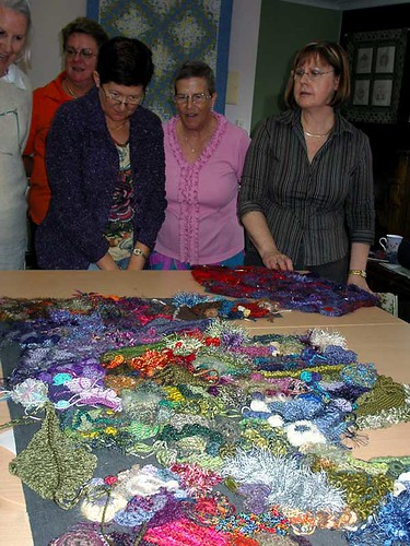 at a textile group workshop in Woombye