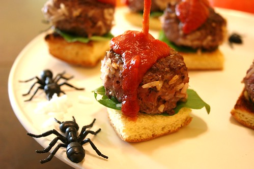 Halloween Party Appetizer - Maggot Sliders