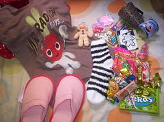 troquinha flickeretes - LATE (yara  b .) Tags: gifts swap present presente troca flickeretes