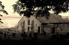 Old Church (nEoPOL) Tags: sea bw white black west church coast nikon north graves colourcast heysham neopol d40 betterthangood