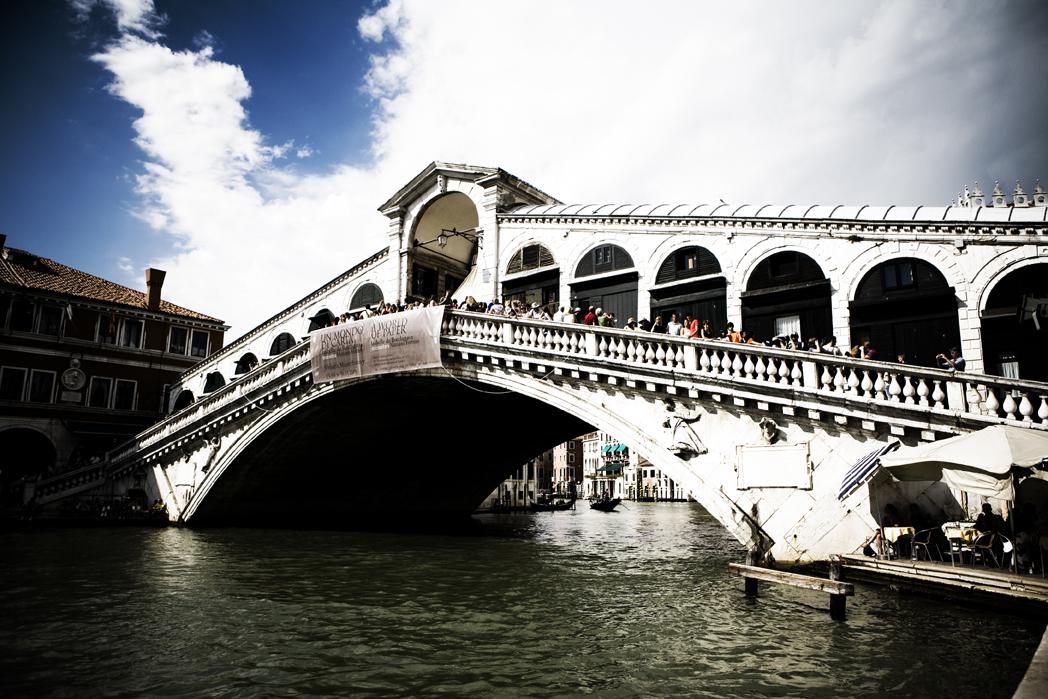 Ponte di Rialto a Venezia, Italia