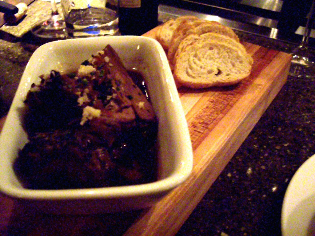 Braised Lamb Shoulder with Horseradish and Baguette at Farm