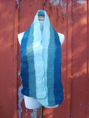 Hand Felted Wool Scarf with Blue Stripes #2 (thefunkyfelter) Tags: wool fashion felted scarf soft handmade unique stripes felt merino handcrafted feltro wol filz accessory scarve woolen wetfelting thefunkyfelter