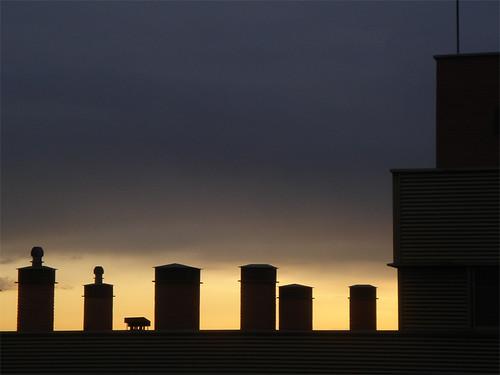 Sonnenuntergang über Madrid