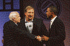 McCain, Warren and Obama at the Saddleback Civil Forum Mosaic