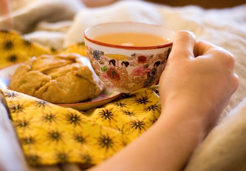 peaceful breakfast