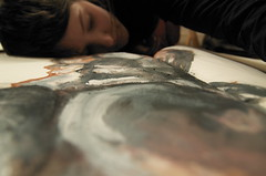 Good Night Celina (Martin Gervais) Tags: portrait texture home night nikon paint floor celina tokina d300 colourartaward spiritofphotography damniwishidtakenthat