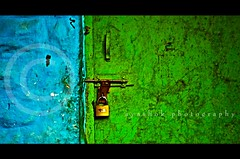 Locked room in a Cemetery (ayashok photography) Tags: door blue green nikon nikonstunninggallery nikond40 ayashok nikor55200mm agnaevents
