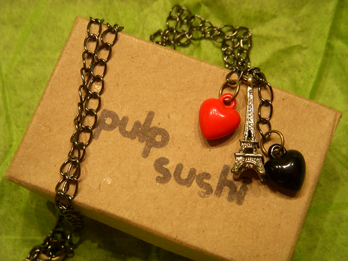 "Pulp Shushi ""i {heart} Paris"" necklace"