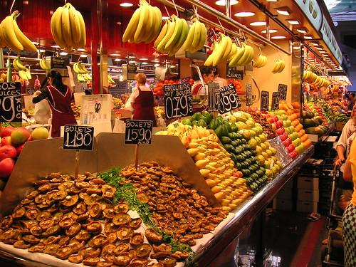 Barcelona. Mercado de Boquería. Boquería Market. Barcelona, Spain