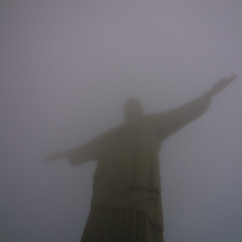 Christ the Redeemer... A cloudy day...