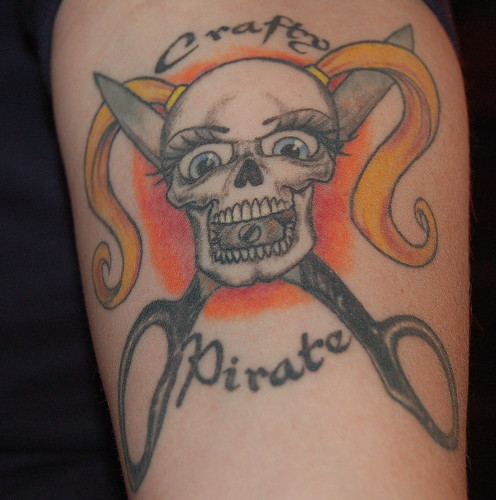 "Omar also did my ""crafty pirate"" tattoo about a year and a half ago."