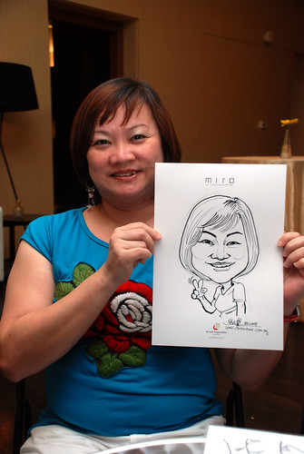 Caricature live sketching for Far East Organisation SPH Media Night The Miro 17