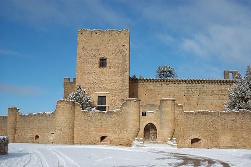 Castillo nevado con sol