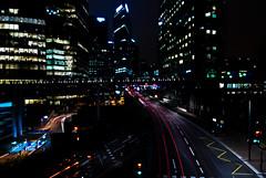 Low Key (janbat) Tags: bridge light paris window car architecture buildings nikon lumire voiture tokina pont signalisation d200 lowkey fentre f4 ladfense 1224 bureaux immeubles lightstream expositionlongue longueexposure derien jbaudebert mercilarambarde
