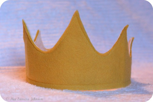 Birthday boy's felt crown