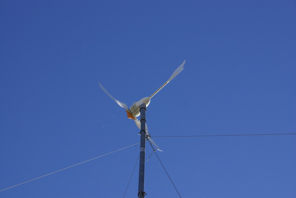 wind turbine with 50 foot custom made tower