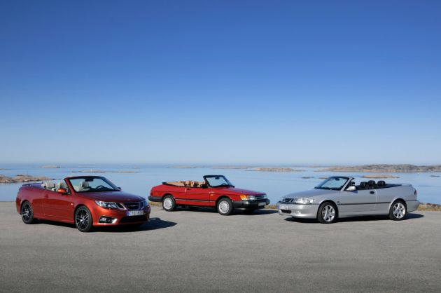 Saab celebrates 25 years of convertibles