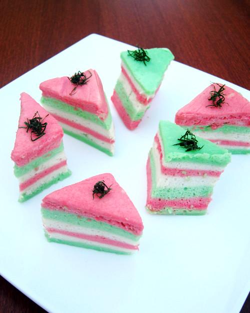 Bolu Pelangi (Indonesian Rainbow Sponge Cake)