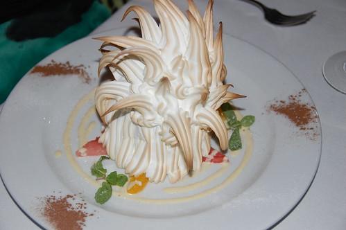 Bombe Alaska dessert at Cross
