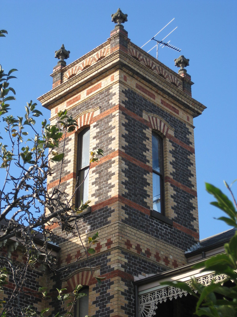 "A Tower of ""Coburg Castle"", two Semi-Detached High Victorian Residences - The Grove, Coburg"