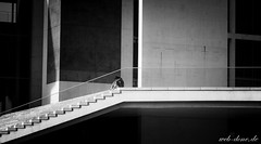 Alone (Alexander Steinhof) Tags: street city white black girl architecture stairs canon eos stair alone streetphotography treppe stadt architektur einsamkeit schwarz einsam weis allein maedchen alleine vignete