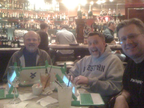 Mark Ahlness, Glenn Malone, and Wesley Fryer in Seattle for NCCE with XO laptops!