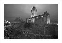 Liverpool Cathedral at Dusk (Ian Bramham) Tags: uk cemetry england blackandwhite bw st architecture liverpool photography photo nikon cathedral fineart explore northern anglican jamess d40 club16 ianbramham